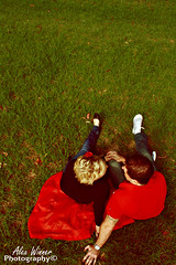 Cute (Alex Winner Photography) Tags: trees cute love grass vintage fun happy hope couple joy smiles warmth parasol laughter enjoyment enlightment