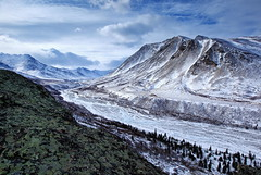 Last Chance Creek (Wolfhorn) Tags: snow ice nature rock landscape remote wilderness lichens rugged alaskarange lastchancecreek