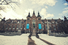 Nordiska Museet (Nordic Museum) (teddy-rised) Tags: travel snow museum architecture sweden stockholm nordic