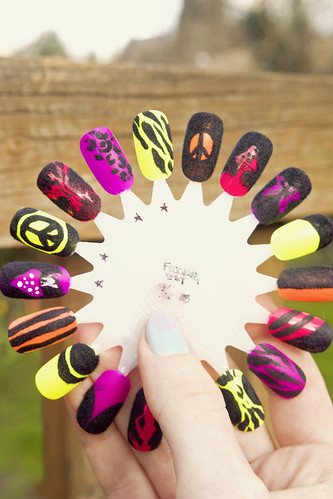 Flocked nails: test wheel