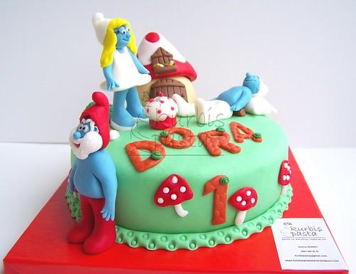 Smurfs Cake / Şirinler Pasta