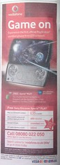 android sony xperia play vodafone advert