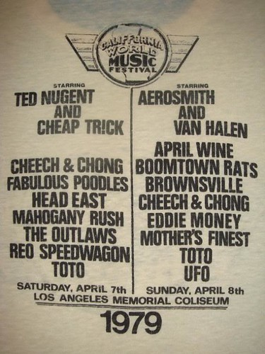 04/07 & 08/79 California World Music Festival (T-Shirt Detail)