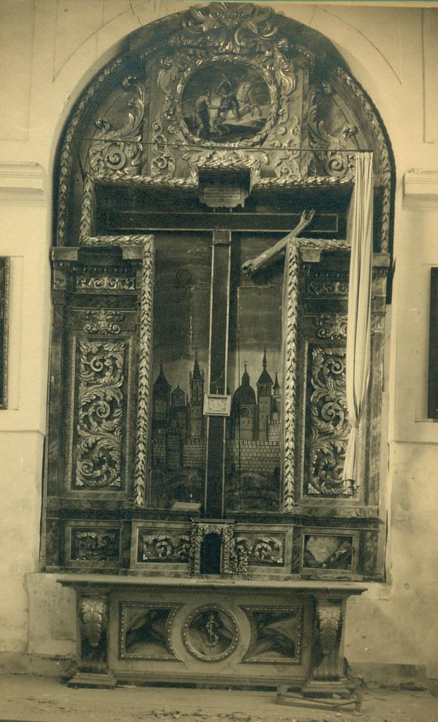 Altar del Convento de las Concepcionistas destruido en la Guerra Civil. Fotografía de Pelayo Mas Castañeda. Causa de los mártires de la persecución religiosa en Toledo