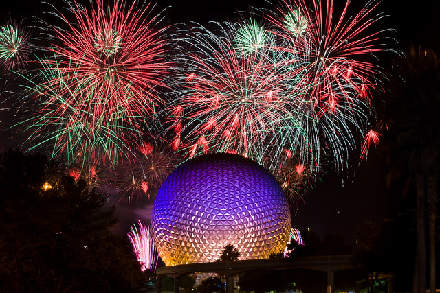 Illuminations + Spaceship Earth - Fireworks Friday (explore)
