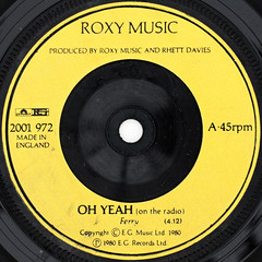 Roxy Music - Oh Yeah (Leo Reynolds) Tags: canon eos iso100 ebay vinyl single record squaredcircle 60mm f80 45rpm 7inch 0sec 40d hpexif sqset061 xleol30x vinylebay04 xxx2011xxx