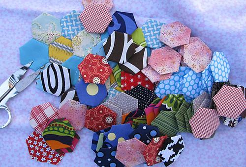 scrap hexagons