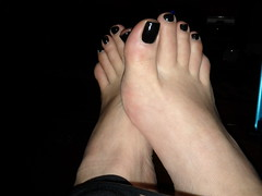 More pedicure shots for Hot Bachelorette! (leyla.a) Tags: black toes toe nail polish pedicure bacheloretteparty girliegirl longtoes prettyfeet blackpolish spaparty pedicureparty blacktoenailpolish perfecttoes perfectpedicure