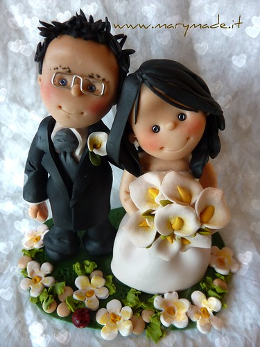 Il cake topper per il matrimonio di Andrea creato da Mary - MaryMade.it