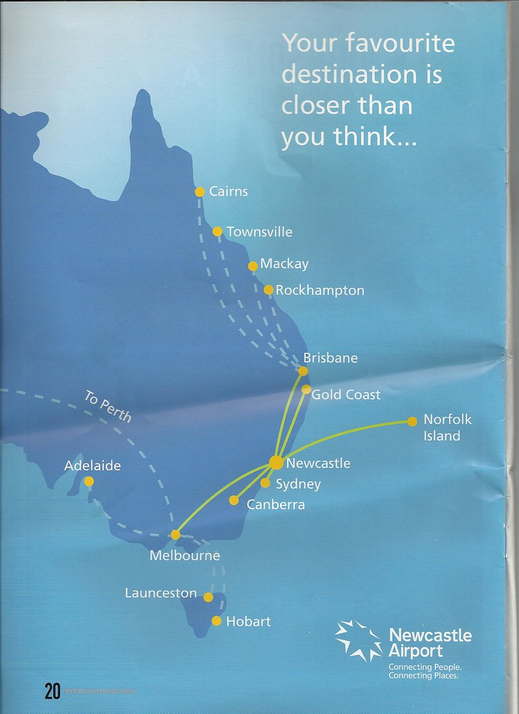 Flight map from Newcastle New South wales. John Coyle scan . Click to ENLARGE and read.
