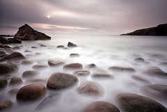 Bloody Foreland - Donegal (alastair.stockman) Tags: longexposure ireland sunset sea irish water canon coast boulders granite donegal irishcoast canon1740mm bloodyforeland 10stop nd110 canon1740f4lusm alastairstockman 5d2 5dii