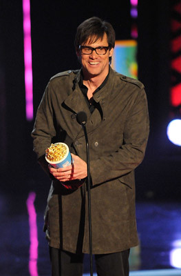 Jim Carrey black frame fashion glasses