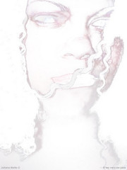 The White Witch (Os poetas mentem.) Tags: juliana mello   lesversdejuke julianamello osversosdejuliana os versos de the white witch snow color inverse effects i like play with photos art arte scary curly hair autoretrato april astral hell month shit happens narnia frosty mood frozen cold breeze omg selfportrait
