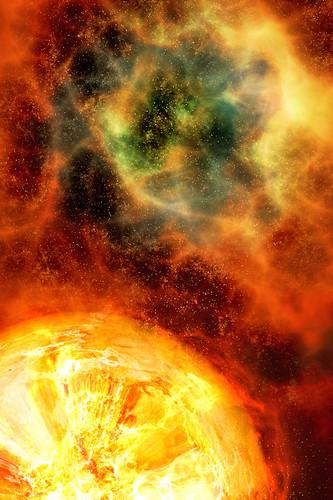 iPhone Background - Nebula Explosion