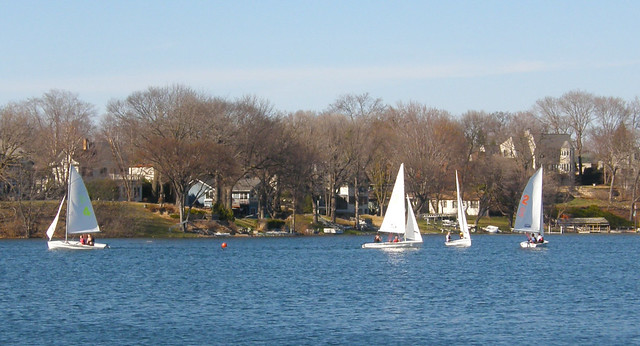 First sailing lessons, Minnetonka 2011