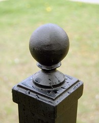 NEWEL POST CAP (LandscapeGates) Tags: iron railing wrought