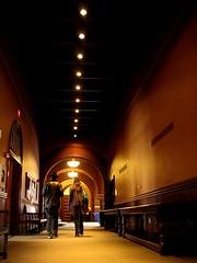 Escape into the Harvard Law Hallway (Sangy23) Tags: people boston architecture walking harvard hallway harvardlaw