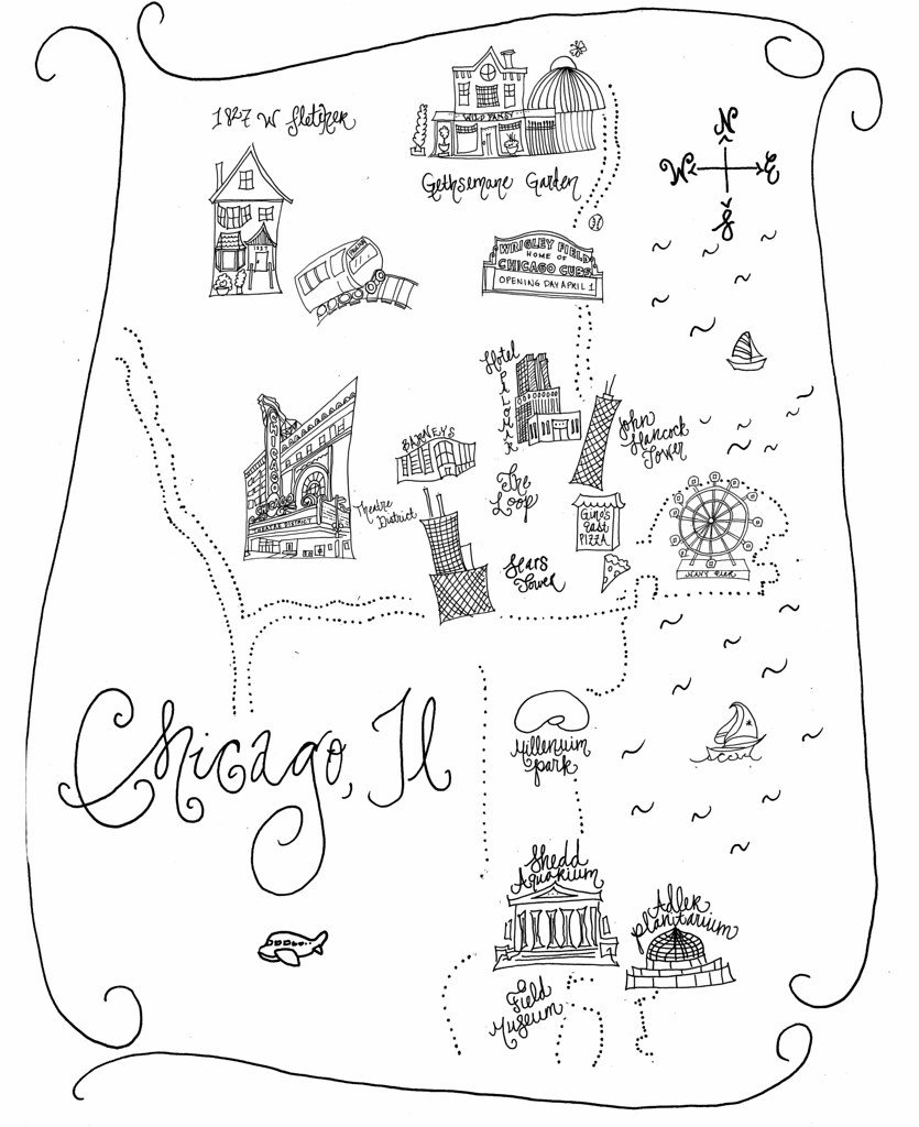 Chicago Map Sketch