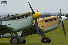 G-AWHE & G-BWUE - 67 & 223 - Hispano HA.1112-M1L Buchon - 100905 - Duxford - Steven Gray - IMG_5875