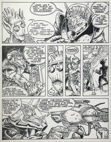 """Fugitoid"" #1 original page ..by Eastman & Laird // Pg. 33 i (( 1985 )) [[ Courtesy of COMICLINK ]]"