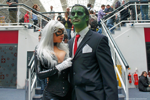 Kapow! Comic Con : Cosplay - Black Cat & Wormwood Gentleman Corpse by Craig Grobler