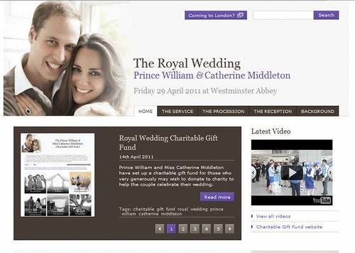 The Official Royal Wedding website