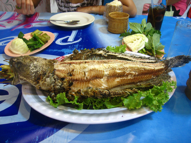 Roasted Snakehead Fish ปลาเผา