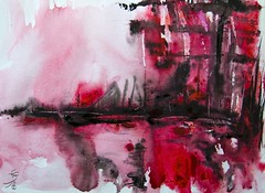 Abstract Watercolor Artwork (Jose F. Sosa) Tags: modern watercolor artwork artist contemporary traditional mexican american abstraction form shape impression abstractions transperent