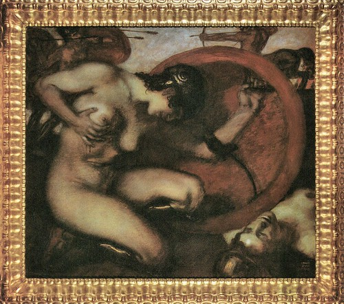 Wounded Amazion [1] by Franz von Stuck