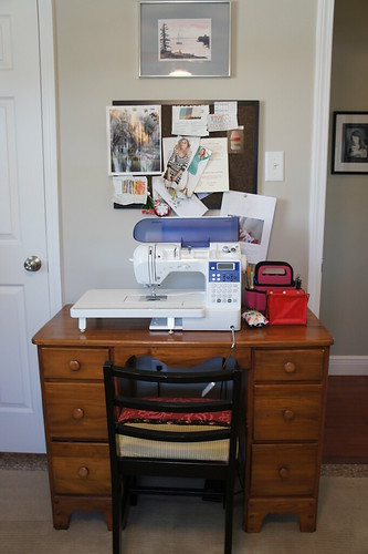 My little sewing area
