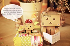 The Danbos sing Happy Birthday.. (generalstussner) Tags: birthday canon happy singing song sing present 5d 24105 danbo 24105mm revoltech danbos danboard 5dmarkii