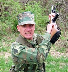 100_4312 (cowboy chris bbq) Tags: cute sexy hat usmc model marine gun photoshoot calendar boots modeling military rifle models columbia camo mo cap cover missouri blonde posters casual camoflage m14 booniehat cowboychrisbbq