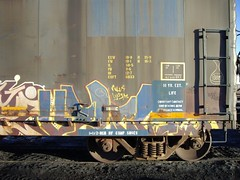 velcro (YARDMASTER176) Tags: train bench graffiti steel velcro freight sts nua mfk upsk