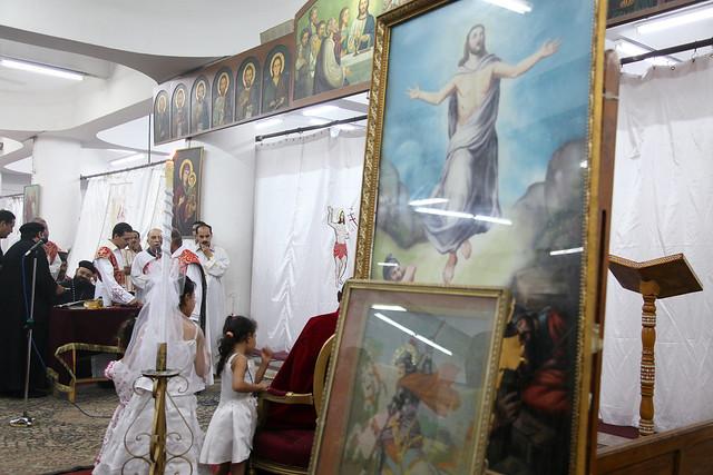 エジプト、アスワン、コプト教の教会内部