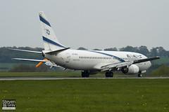 4X-EKA - 29957 - El Al Israel Airlines - Boeing 737-858 - Luton - 110418 - Steven Gray - IMG_3972