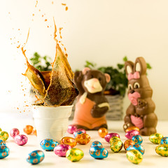 Happy & Easter (dongga BS) Tags: coffee easter kaffee splash ostern schokolade hase osterhase chocolatebunny schokoladenhase canoneos50d ef35mmf14lusm geocity camera:make=canon exif:make=canon exif:focal_length=35mm exif:iso_speed=500 camera:model=canoneos50d geostate geocountrys exif:model=canoneos50d exif:lens=ef35mmf14lusm exif:aperture=22 kaffefrozenmovment