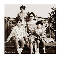 H.M. Queen Nazli With Cheldren; Farouk, Fawzia & Faiza - Abdien Palace In 1927 [A] (Tulipe Noire) Tags: africa 1920s children princess egypt middleeast prince palace farouk queen cairo egyptian nazli 1927 faiza fawzia abdine