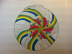 ixorus zendala (lacey709) Tags: color tombowmarkers zentangle zentangleinspiredart dewentinkwatercolorpencils