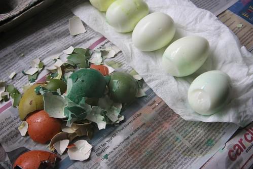 making deviled eggs