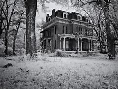McPike Mansion (Rodney Harvey) Tags: blackandwhite abandoned architecture geotagged eerie haunted creepy spooky infrared ghosts mansion secondempire altonillinois mcpikemansion stlouistornado