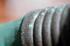 The Guessing Game - Round 22 (annabellemartensen) Tags: old game macro green water metal canon silver garden fun 22 rust guess rubber hose round guessing theguessinggame