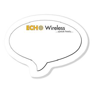 Bic® Adhesive Die Cut Notepads (Speech Bubble Shape)  3264SB 316 3264SB White-Paper