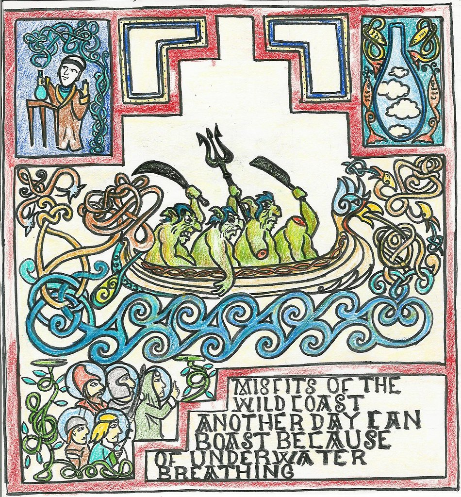 the world s best photos of alchemist and old flickr hive mind Old Arcade Games illuminated manuscript describing how misfits of the wild coast hid from trolls using mervic s potion of