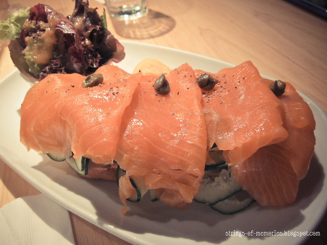 Smoked Salmon with Sour Cream & Capers