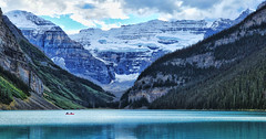 A Return to the Ice Age (Jeff Clow) Tags: lake canada nature landscape canoe glacier lakelouise albertacanada banffnationalpark canadianrockies