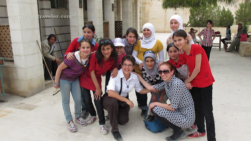 Jordanian school children in Jerash