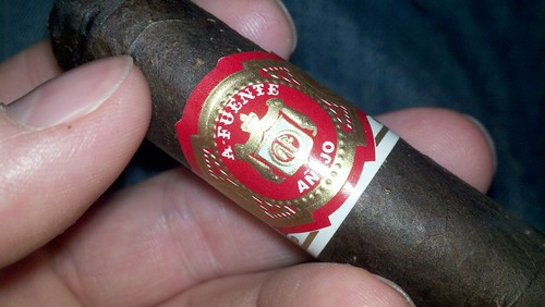 Hanging out with Jason, enjoying a Fuente Anejo. Great time with great friends. @KnightRid Cigarfest