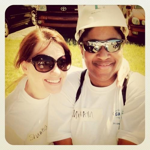 Me and Miriam at Habitat build