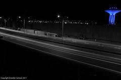 Inner highway in Malm Sweden (omgikk) Tags: road cars night dark lights evening watertower freeway roads vg ljus bilar wow1 motorvg vattentorn lampor vgar mygearandme