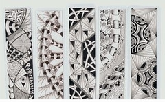 bookmarks4 (Jo in NZ) Tags: drawing doodle bookmark zentangle nzjo